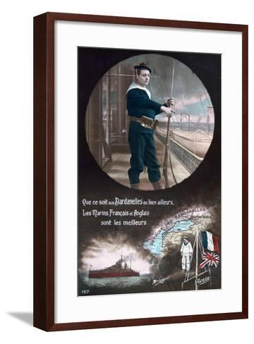 French WWI Postcard, 1914-1918--Framed Art Print