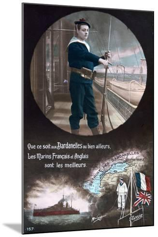 French WWI Postcard, 1914-1918--Mounted Giclee Print