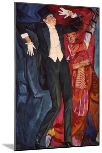 Portrait of the Stage Producer Vsevolod Meyerhold, 1916-Boris Grigor'yev-Mounted Giclee Print