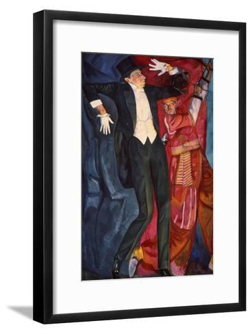 Portrait of the Stage Producer Vsevolod Meyerhold, 1916-Boris Grigor'yev-Framed Art Print