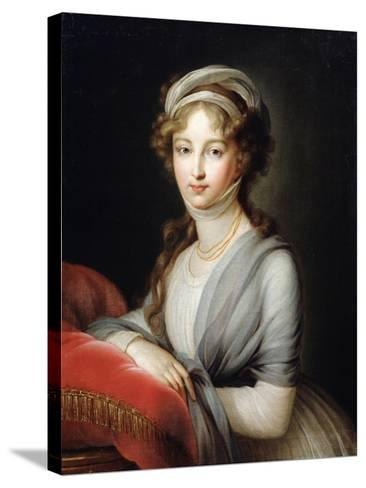 Portrait of Empress Elizabeth Alexeievna, C1795-Elisabeth Louise Vigee-LeBrun-Stretched Canvas Print