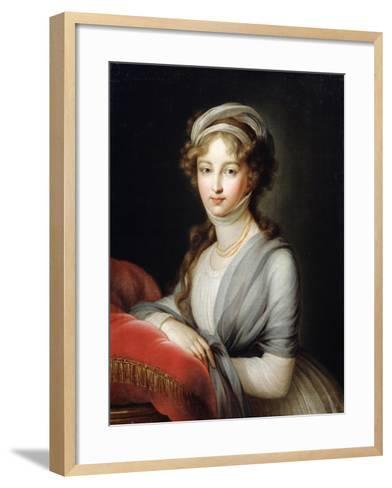 Portrait of Empress Elizabeth Alexeievna, C1795-Elisabeth Louise Vigee-LeBrun-Framed Art Print