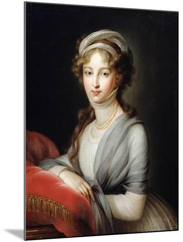 Portrait of Empress Elizabeth Alexeievna, C1795-Elisabeth Louise Vigee-LeBrun-Mounted Giclee Print