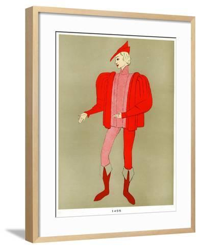 Costume of 1455, Early to Mid 20th Century--Framed Art Print