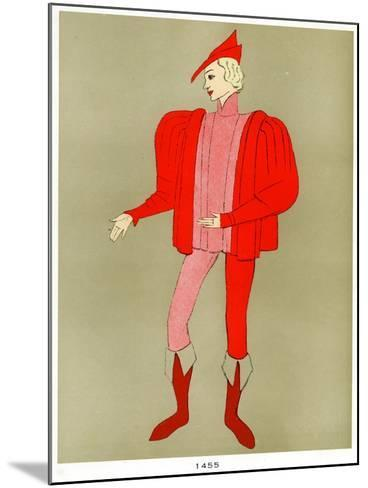 Costume of 1455, Early to Mid 20th Century--Mounted Giclee Print