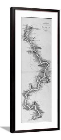 Panoramic Map of the River Thames, 1850--Framed Art Print