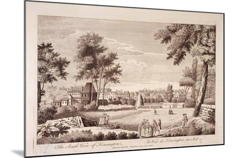 South View of Kensington, London, C1750--Mounted Giclee Print