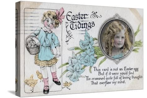 Easter Tidings, Greetings Card, C1923--Stretched Canvas Print