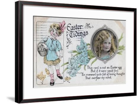Easter Tidings, Greetings Card, C1923--Framed Art Print