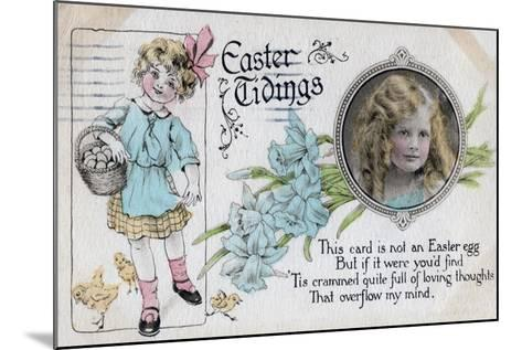 Easter Tidings, Greetings Card, C1923--Mounted Giclee Print
