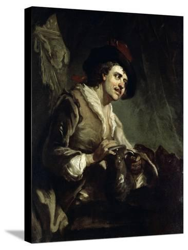 Man with a Jug, 18th Century-Francesco Giuseppe Casanova-Stretched Canvas Print