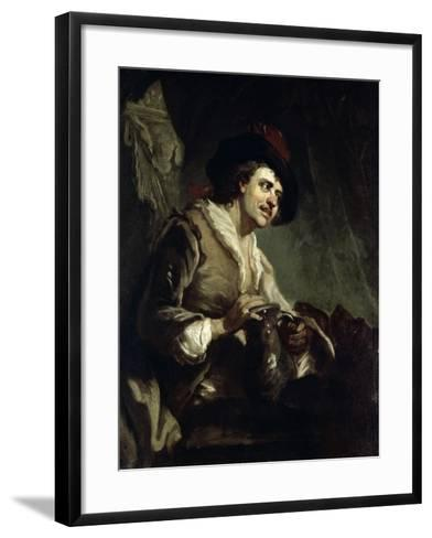 Man with a Jug, 18th Century-Francesco Giuseppe Casanova-Framed Art Print