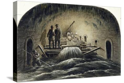 Fleet River, London, 1854--Stretched Canvas Print