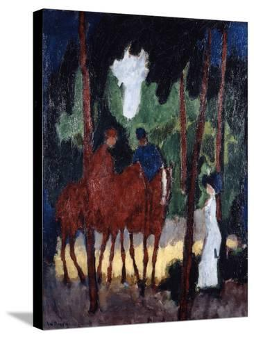 Riders in the Wood of Boulogne,' C1904--Stretched Canvas Print