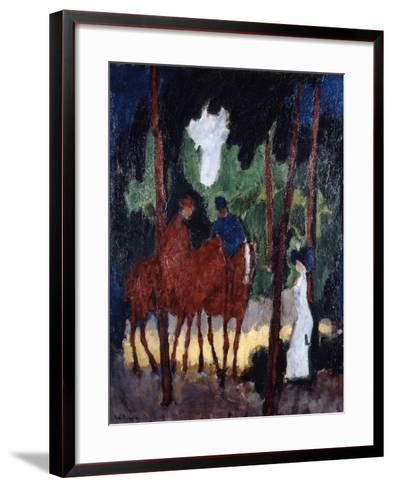 Riders in the Wood of Boulogne,' C1904--Framed Art Print