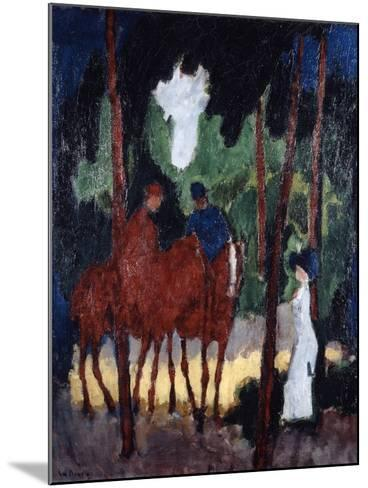 Riders in the Wood of Boulogne,' C1904--Mounted Giclee Print