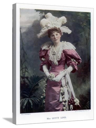 Letty Lind, Actress and Dancer, 1901-W&d Downey-Stretched Canvas Print