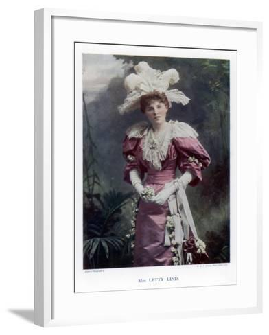 Letty Lind, Actress and Dancer, 1901-W&d Downey-Framed Art Print