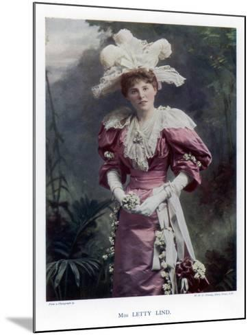 Letty Lind, Actress and Dancer, 1901-W&d Downey-Mounted Giclee Print