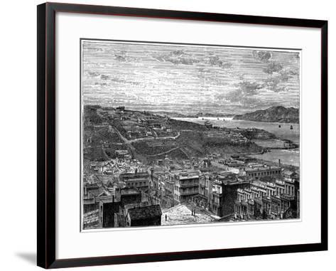The Bay of San Francisco, America--Framed Art Print