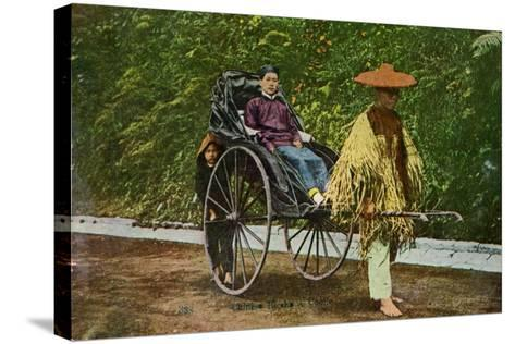 Chinese Rickshaw, 20th Century--Stretched Canvas Print