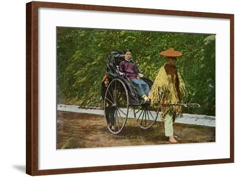 Chinese Rickshaw, 20th Century--Framed Art Print