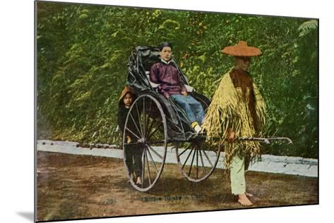 Chinese Rickshaw, 20th Century--Mounted Giclee Print