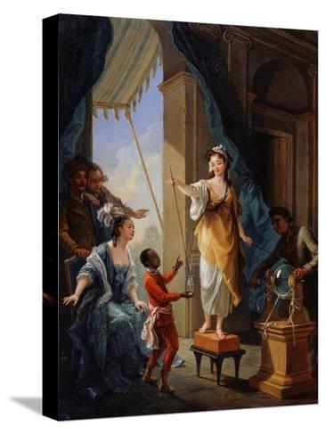 Electrical Experiment, 1777-Amédée van Loo-Stretched Canvas Print