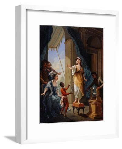 Electrical Experiment, 1777-Amédée van Loo-Framed Art Print