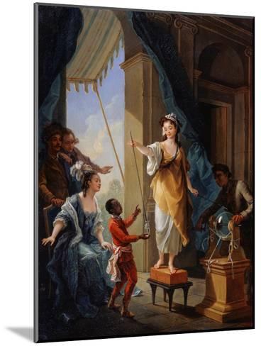 Electrical Experiment, 1777-Amédée van Loo-Mounted Giclee Print