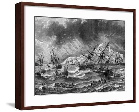 Cod Fishing, Canada, 19th Century- Le Breton-Framed Art Print
