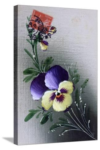 French Flower Postcard, C1900--Stretched Canvas Print