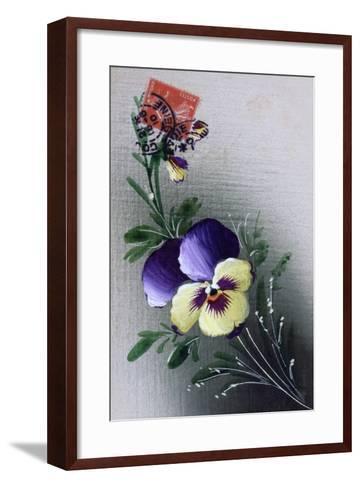 French Flower Postcard, C1900--Framed Art Print