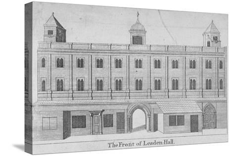 Front of Leadenhall, City of London, 1750--Stretched Canvas Print