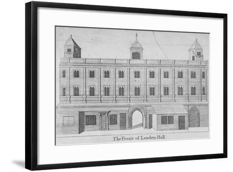 Front of Leadenhall, City of London, 1750--Framed Art Print