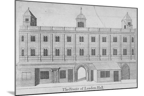 Front of Leadenhall, City of London, 1750--Mounted Giclee Print