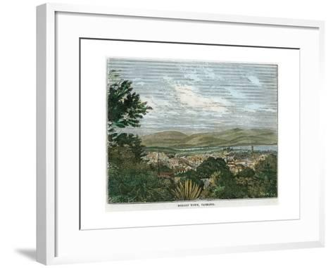 Hobart Town, Tasmania, Australia, C1880--Framed Art Print