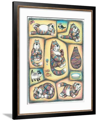 Day of a Cat-Marina Leskova-Framed Art Print