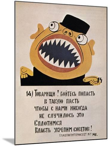 Soviet Political Poster, 1921--Mounted Giclee Print