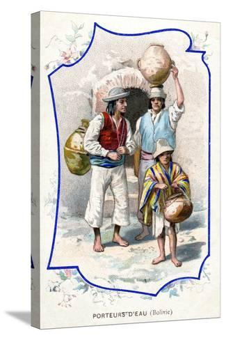 Water Carriers, Bolivia, 1911--Stretched Canvas Print