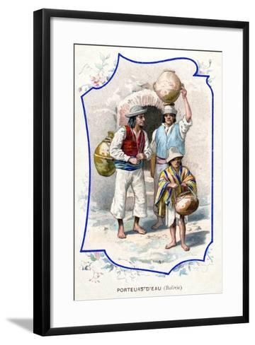 Water Carriers, Bolivia, 1911--Framed Art Print
