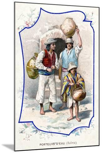 Water Carriers, Bolivia, 1911--Mounted Giclee Print