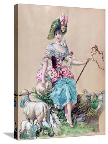 Little Bo Peep--Stretched Canvas Print