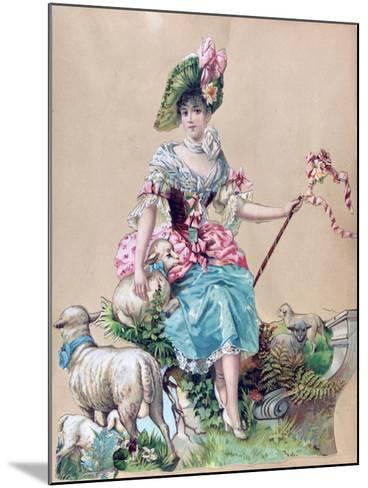 Little Bo Peep--Mounted Giclee Print
