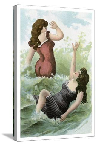 Women Bathing, Early 20th Century--Stretched Canvas Print