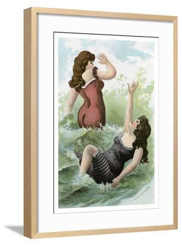 Women Bathing, Early 20th Century--Framed Art Print