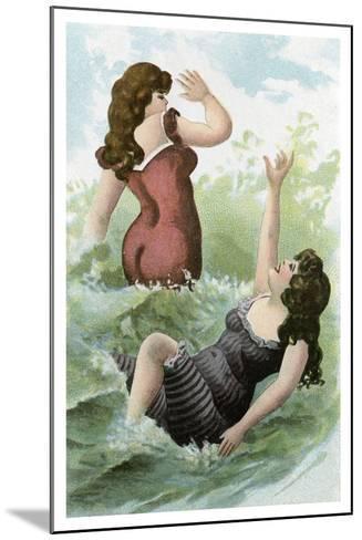 Women Bathing, Early 20th Century--Mounted Giclee Print