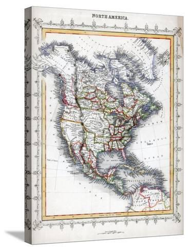 Map of North America--Stretched Canvas Print