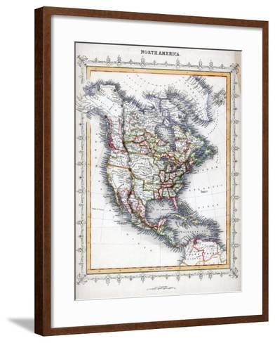 Map of North America--Framed Art Print