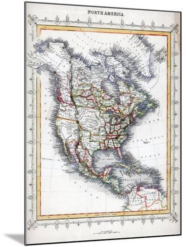 Map of North America--Mounted Giclee Print